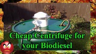 Biodiesel, Centrifuge your WVO