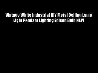 Vintage White Industrial DIY Metal Ceiling Lamp Light Pendant Lighting Edison Bulb NEW