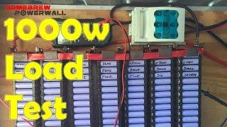 First ever load test of my DIY HomeBrew Powerwall