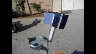 Home-made Solar Tracking System with no electronics for solar panel or solar oven