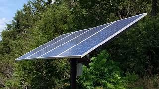 Solar Panel Dual Axis Sun Tracker Arduino
