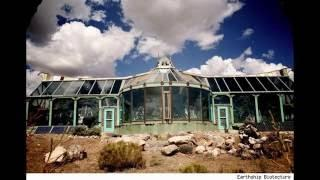 Earthship house interiors and exteriors