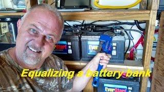 DIY Equalizing battery bank, home solar power station