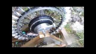 DIY Pelton Hydro Power with a 500W EBike Hub motor