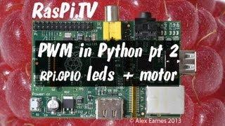 PWM in Python RPi.GPIO on Raspberry Pi part 2 leds and motor