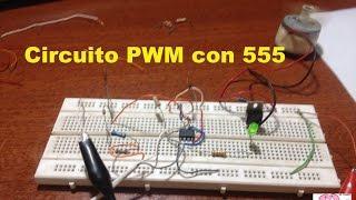 CONTROL DE VELOCIDAD PARA MOTOR DE CORRIENTE CONTINUA CON 555 (PWM)