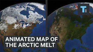 Animated map of the Arctic melt