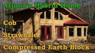 Cob, Strawbale Hybrid Home - Earthaven Natural Building Tour Part 2