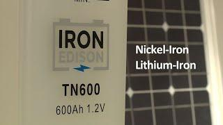 Solar Battery Introduction by Iron Edison (Lithium and Nickel Iron)