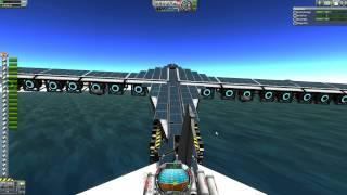 Kerbal Space Program - Flying Solar Powered Ion Engine Glider