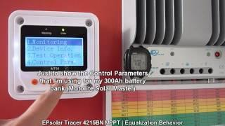 EPsolar Tracer 4215BN MPPT - Equalization Behavior