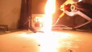 Carbon rod arcs -- first step towards arc reactor furnace!