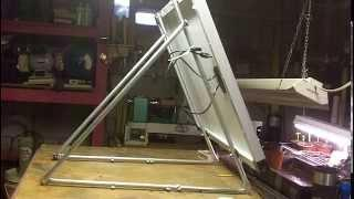 DIY quick, easy single solar panel mount 1