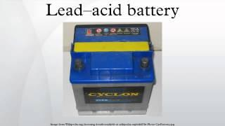 Lead–acid battery