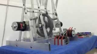 Energy storage in magnet machine! the ornithopter engine magnet motor engine by oren gertel