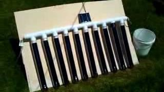 DIY solar vacuum tube water heater manifold