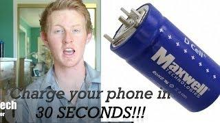 Solution to battery technology - How to fully charge your phone under 30 seconds - Supercapacitor