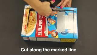 Emergency Preparedness Hack: Make a solar oven with a cereal box and aluminum foil