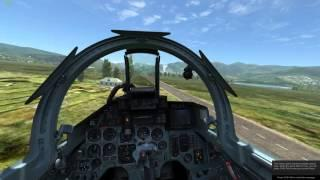 Su-27 Emergency (Bingo Fuel) Landing