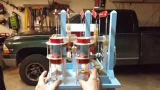 Crazy homemade tin can twin stirling engine