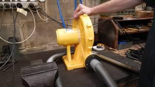 A cheap air blower for back yard metal casting or a forge