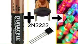 DIY JOULE THIEF.! SIMPLEST POWER MULTIPLIER