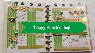PWM: St. Patrick's Day I The happy planner I decorando mi planificador!
