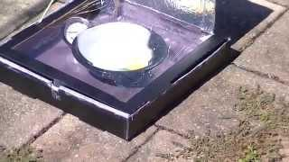Solar Cooker Oven Pizza Box - School Project