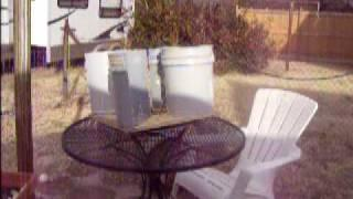 VAWT bucket / bike tire wind turbine