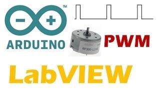 Arduino/LabVIEW: Control de velocidad de un motor por PWM
