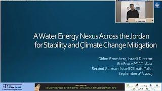A Water Energy Nexus across the Jordan for Stability and Climate Change Mitigation