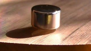 Magnetic Levitation over copper - Neodymium magnet levitation