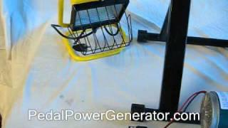 Video 2 - DIY Pedal Power  Bicycle Generator - how to make a floating ball science fair display