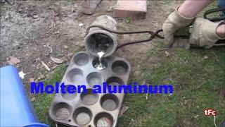 Melting aluminum with the foundry