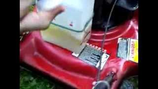 Homemade fuel vaporizer on my lawn mower