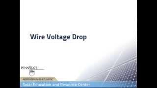 Wire Voltage Drop in PV Systems