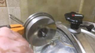 Running a Tesla Turbine rotor using a pressure cooker