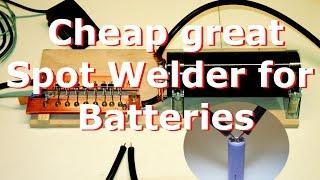 Spot Welder for battery homemade DIY part 1, Punktschweißgerät