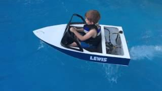 Mini ski boat build petrol powered