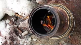 DIY Micro Paint Can Gasifier Wood Stove