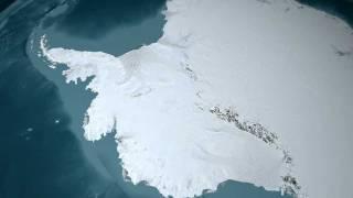 Antarctic Ice Flows (Landsat Overlay) [1080p]