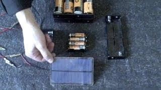 Homemade Battery Charger - solar powered! - fast charge (AA,AAA,C,D sizes) - simple DIY