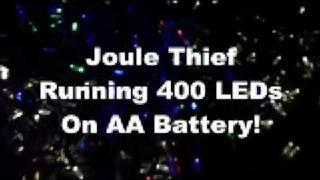 Joule Thief Lights 400 Leds On Single AA Battery!