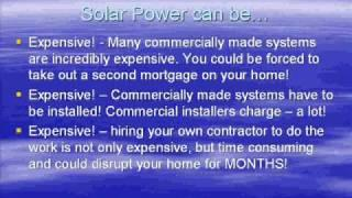 DIY green, renewable solar energy, Solar Power House -Ez project