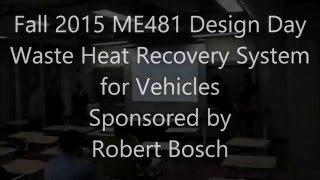 ME481 Waste Heat Recovery System for Vehicles - Robert Bosch