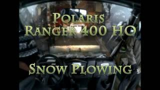 First Big Snow Storm_Polaris_Ranger Plow