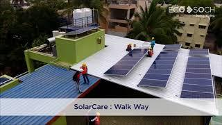Installation of Solar on different roofs in one residence