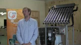 Solar thermal panels with a combi boiler