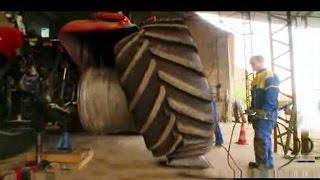 Huge Tractor Tire Repairs Wheel Replacement & Funny Epic Fails LOL Compilation Good Year, John Deere