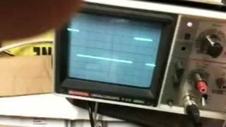 555 IC based PWM generator testing
